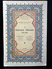 BERNARD Pénétration Saharienne COLONIE AFRIQUE ALGERIE Expo Coloniale CARTE 1906