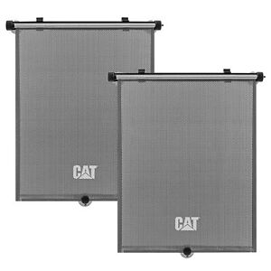 Caterpillar 2PC Retractable Side Window Sunshade, Universal Fit for All Vehicles