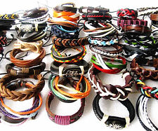 Wholesale Bulk 30pcs Mixed Style Ethnic Tribal Leather Fashion Cuff Bracelets
