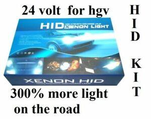 sunlight2020 XENON HID CONVERSION KIT H4 h/l 6000K FOR  HGV 24V  55W  UK SELLER