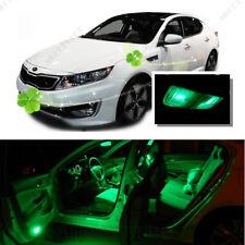 For Kia Optima w/ sunroof 11-15 Green LED Interior Kit +Green License Light LED