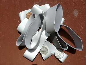 """Rubber Bands Silver 1"""" thick & 3 1/2"""" Long / Heavy Duty & Strong / 1 Dozen (12)"""
