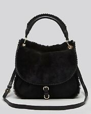 UGG Australia HOBO Quinn BLACK sheep fur FLAP HOBO bag PURSE handbag with strap