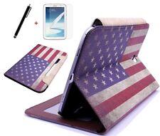Hülle f. Samsung Galaxy Note 8.0 N5110 N5100 USA Amerika Kustleder Tasche Case