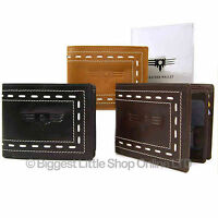 Quality Mens/Gents Leather Wallet by Firelog 3 Colours
