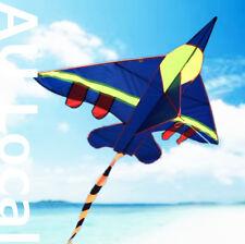 Blue Warcraft Plane Kite Line Included 140x100cm Fly High Okite2402&oklin2100