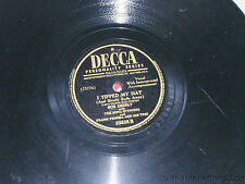 """BOB EBERLY If I Had My Life to Live Over / I Tipped My Hat 10"""" 78 Decca  23835"""