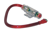 4GA 1' ft  Red Power Wire In-Line Fuse & Holder for Car Audio Power Amplifier