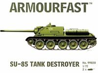 ARMOURFAST 99020 WWII Russian SU85 Tank Destroyers 2 Model Kit AIRFIX FREE SHIP