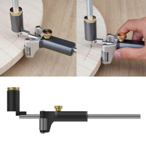 Aluminum Alloy Pocket Woodworking Liner Arc Scriber Durable Use with 2pcs Pencil