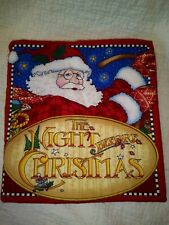"Mary Engelbreit Fabric Book The Night Before Christmas Complete 9 3/4""x9 1/2"" Me"