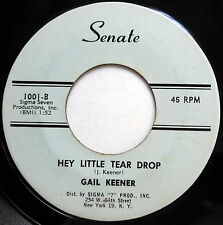 Gail Keener MOD BEAT Pop rocker 45 Hey Little Tear Drop / My Party's Over F2004