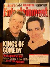 Entertainment Weekly October 13, 2000 Robert DeNiro and Ben Stiller