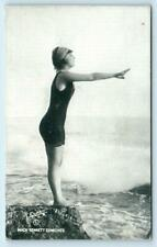 Mack Sennett Comedies BATHING BEAUTY Beach Evans Arcade Exhibit Blank Postcard