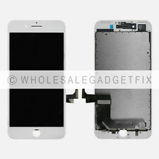 White Touch Screen Digitizer + Display LCD Screen + Frame for Iphone 7 Plus 5.5""