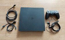 Sony Playstation 4 Konsole 500 GB Jet Black + Controller + OVP + sämtliche Kabel