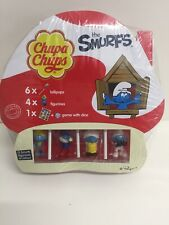 Smurfs Chupa Chups Collection 4 Smurf 6 Lollys Game & Dice Brand New