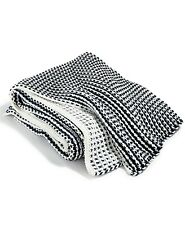 """Charter Club Damask Designs Two Tone Throw Knit, Navy 50"""" x 60"""""""