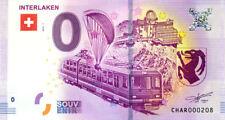 SUISSE Interlaken, Train et parapente, N° de la 3ème, 2018, Billet 0 € Souvenir