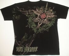 Red Buckle Gothic Iron Cross Dagger Tattoo Art T Shirt XXXL 3XL Black
