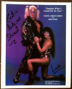 Exotic Adrian Street & Miss Linda (Wrestlers), Dual Signed Autographed Photo