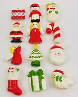 Vintage Fitz and Floyd Christmas Tree Trimmers Ornaments 1976 2 Boxes 12 Pieces