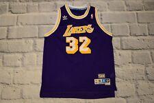 LAKERS jersey JOHNSON shirt ADIDAS youth XL kit M men NBA purple 32 firebird