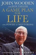 A Game Plan for Life VG+ HBDJ !st US ed Wooden and Yaeger Signed by Yaeger