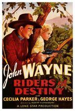 RIDERS OF DESTINY Movie POSTER 27x40 B John Wayne Cecilia Parker Forrest Taylor