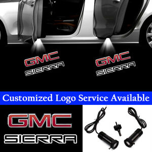 2x GMC SIERRA Logo Car Door Welcome LED Lights Ghost Shadow Laser Projector
