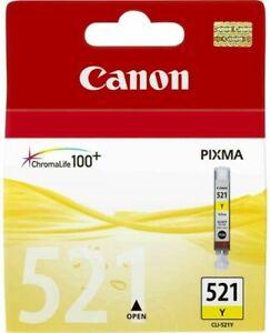 Genuine Canon CLi-521 Yellow Ink Cartridge CLi521Y - 2936B001