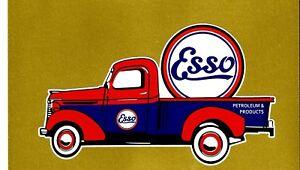 ESSO F100 FORD VINYL Sticker Decal Garage Service OIL Station Petrol TRUCK GAS