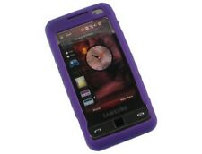 Silicone Wrap On Purple Protector Phone Cover Case For Samsung Omnia i910