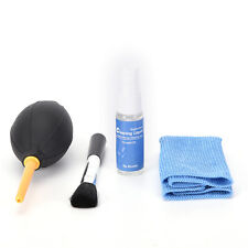 4in1 kit Blower Camera lens pen air blowing cleaning Dust Cleaner cloth brus _UK