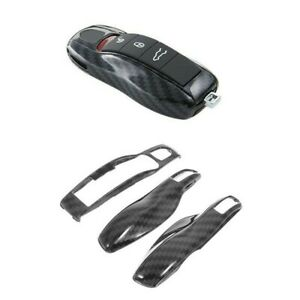 3PCS Remote Key Case Protective Shell Cover For Porsche Panamera Cayenne Macan