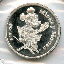 Mickey Mouse & Minnie Disney 999 Silver Art Medal 1/20 oz Mini Round - JC544