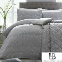 Laurence Llewelyn-Bowen Silver Grey Duvet Cover Bedding Set Designer Throw