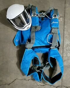 Javelin Skydiving Harness Parachute Container System Rig & Oxygn Helmet