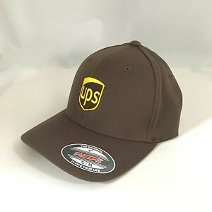 UPS Flexfit Cap Yupoong Wool Blend 6477 Hat United Parcel Service Brown S/M
