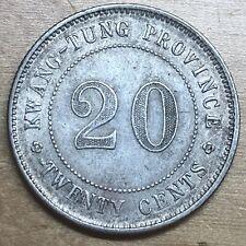 Kwangtung/China Province 190 20 Cents; KM-423; XF (#x1324)