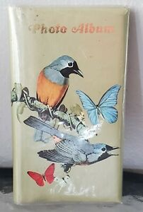Vintage Woolworth Green Photo Album Birds And Butterflies 52 Photos