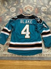 Rob Blake Signed Autographed Sharks Jersey COA
