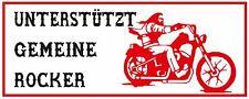 """069 HELLS ANGELS Support 81 Sticker Aufkleber """"UNTERSTÜTZT GEMEINE ROCKER"""""""