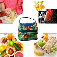 Lunch Cooler Bag Women Tote Insulated Thermal Easy Carry Picnic Food Storage AU