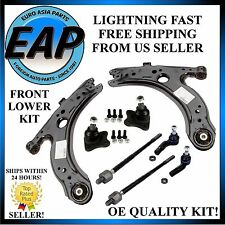 For VW Jetta Golf Beetle Front Lower Control Arm Kit w/ Ball Joints and Tie Rods