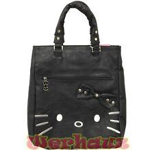 Sanrio Hello Kitty Tote Shoulder Bag PU Leather Black, NEW