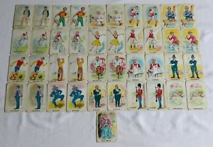 Vintage Old Maid Card Game 41 Cards Complete Set Boxed 1960's Chad Valley