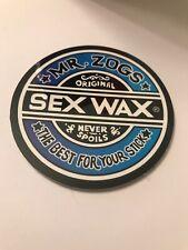 Mr Zoggs Surf Wax 3 inch Blue Toned Sticker