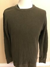 QUICKSILVER Men's Regular Fit Long Sleeve Thermal Knit Top Shirt Size L Brown