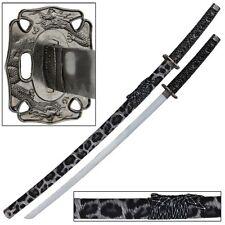 Japanese Samurai White Leopard Display Katana Sword